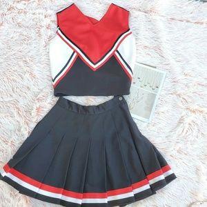 ♥️Cheerleader Uniform, Small Top & Skirt